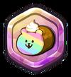 Rainbow Bear Roll Cake