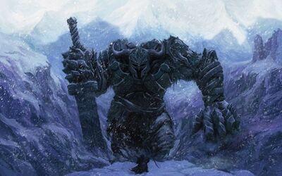 Mage snow horns weapons fantasy art armor wizards sorcerer artwork warriors helmets fan swords 19 www.wallpaperhi.com 94