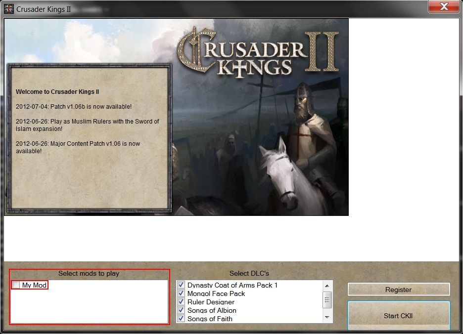 Setting up a mod | Crusader Kings II Wiki | FANDOM powered