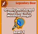 Grossly Overcharged Power Source of Needless Danger