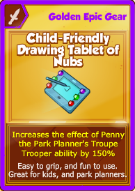 Child-Friendly Drawing Tablet of Nubs (Golden Epic