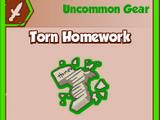 Torn Homework