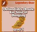 Outlandishly Ornate Ear Stud of Dangling