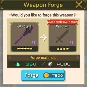 Forging old staff