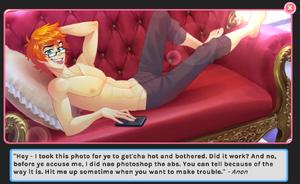 Anon shirtless