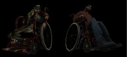 Stanley and Sick Simon Wheelchair
