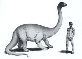 Mokele-mbembe rendered as sauropod, David Miller under direction of Prof Roy P Mackal