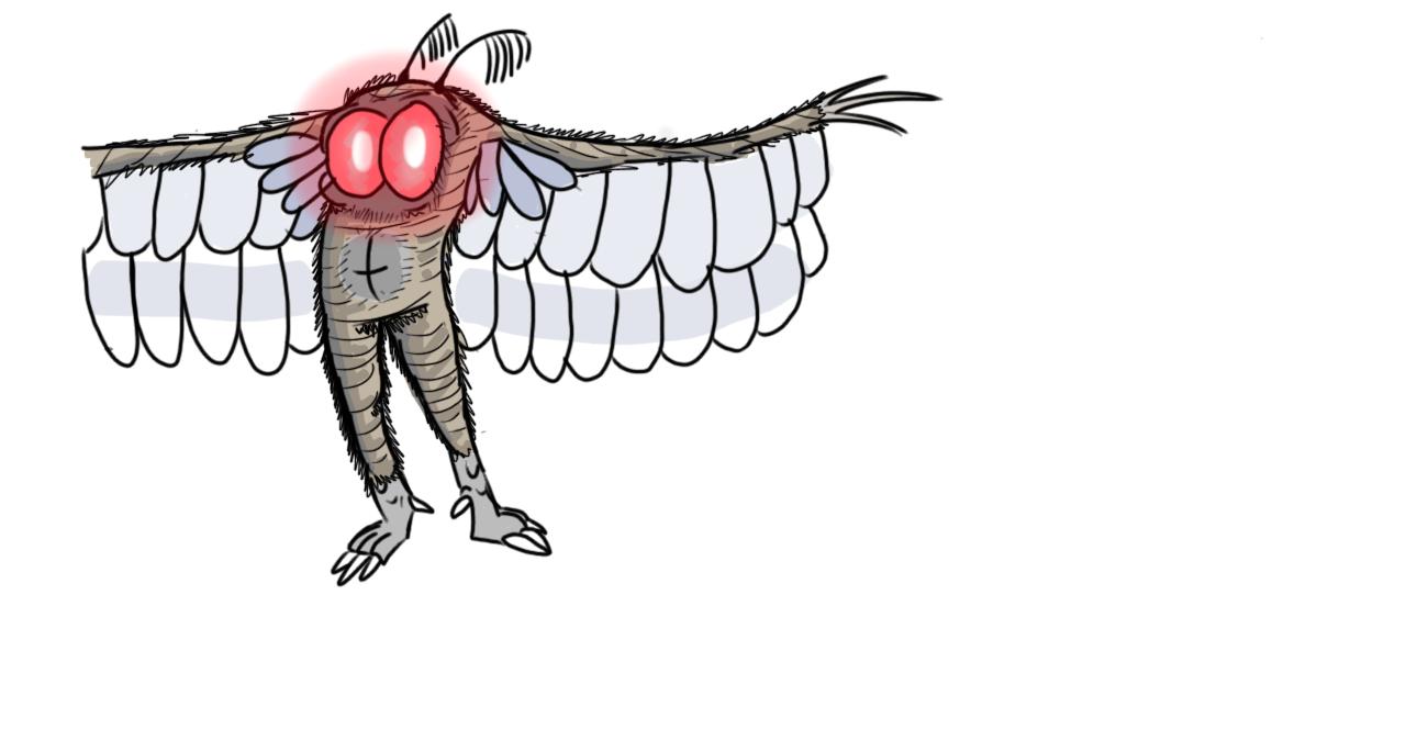 I drew Mothman | Cryptid Wiki | FANDOM powered by Wikia