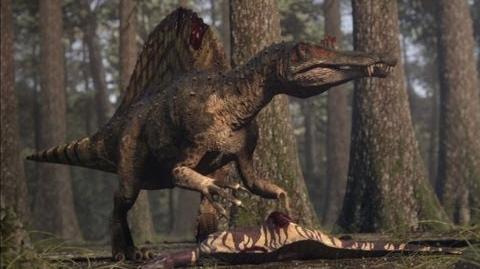 Spinosaurus vs Carcharodontosaurus - The balance of power - Planet Dinosaur - BBC