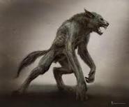 Werewolf drawing artist rendering