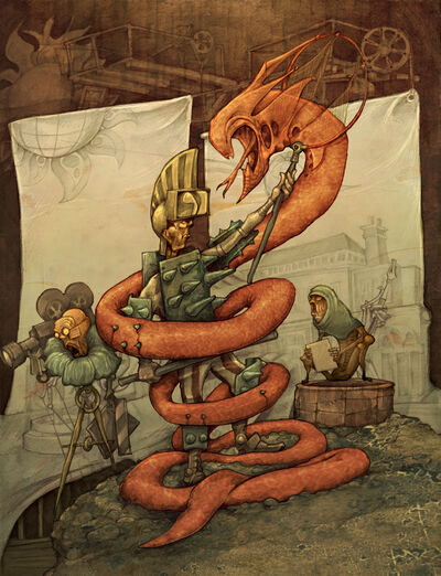 The Lambton worm by Rubens Oscroft