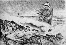 Theodor Kittelsen - Sjotrollet 1887 The Sea Troll