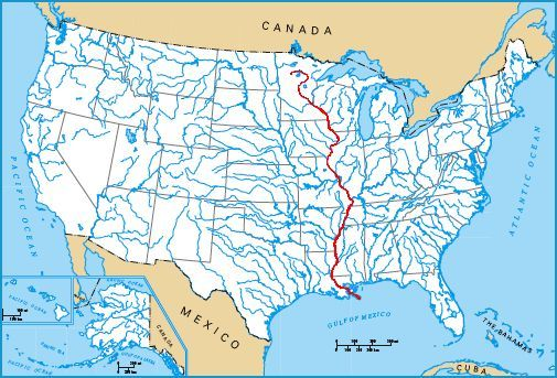 Image MississippiRiverjpg Cryptid Wiki FANDOM Powered By Wikia - Us map of the mississippi river