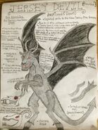 Cryptid sketch jersey devil updated by strikerprime-d8vhx7s
