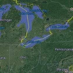 Lake Erie map