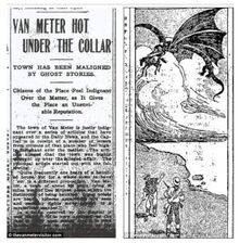 Van meter visitor newspaper