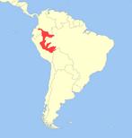 Callimico goeldii distribution