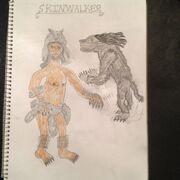 Cryptid sketch skinwalker updated by strikerprime-d8cvpzs