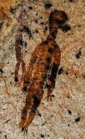 Rock-paintings-depicting-aliens-chhattisgarh-india