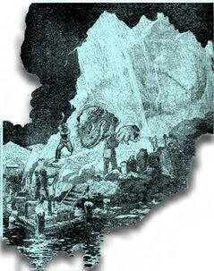 Glacier island carcass