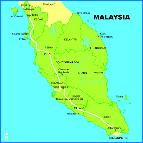Image Malaysia Green Mapjpg Cryptid Wiki FANDOM Powered By - Map of malaysia