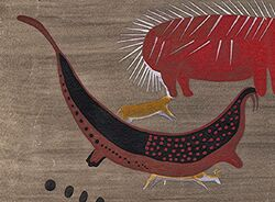 Jungle walrus in Brakfontein cave paintings.JPG
