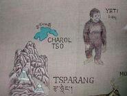 Yeti-Detail of Tibetan Map