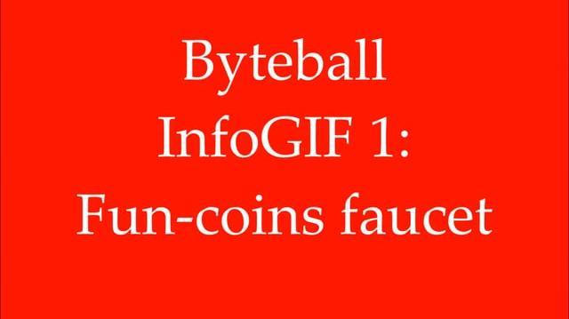 Byteball InfoGIF 1 Fun-coins faucet