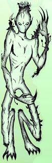 Vegetable-man alien, John A Short in Alien Encounters, August 1997