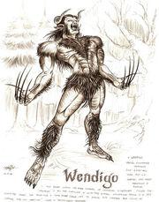 Wendigo by artstain