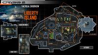 Liberty island map