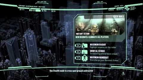 Crysis 2 - Instant Action and Customization Menu