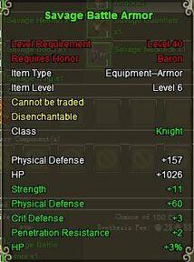 Knight Sav armor Green