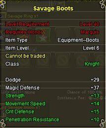 Knight Sav boots gold
