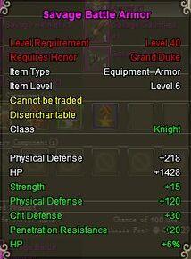 Knight Sav armor purple
