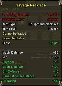 Knight Sav neck gold