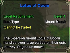 Lotus of doom stats