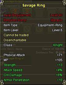 Knight Sav ring gold