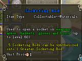 Socketing Rod