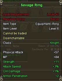 Knight Sav ring Green