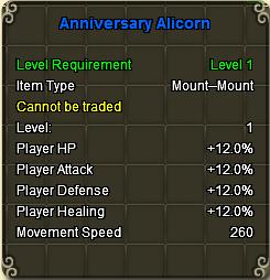Alicorn stats