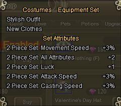 Clothes Set Bonus