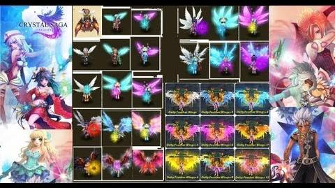 Crystal saga- Upgrading wings