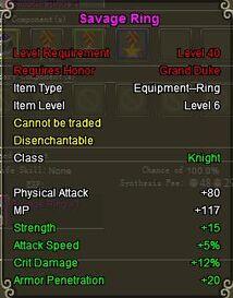 Knight Sav ring purple