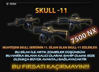 Skull11 turkey poster