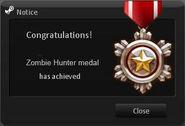 Zombie Hunter Medal.