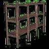 Hide shelves wood
