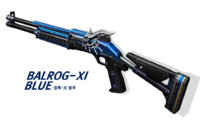 Balrog11 blue korea poster
