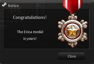 Erica medal CSNZ