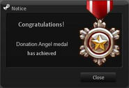 Donation Angel Medal
